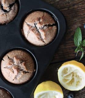 vegan gluten free bluebarries muffin featured