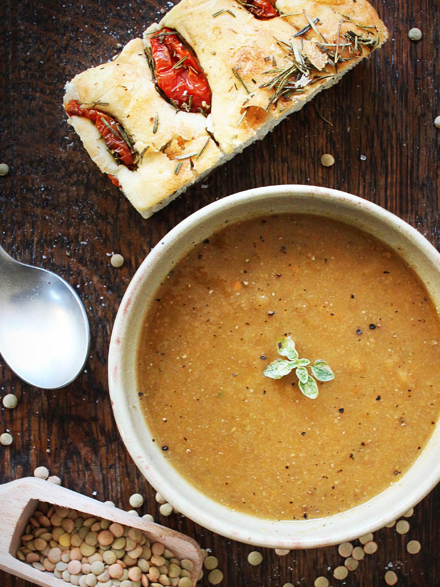 carrot lentils soup 1