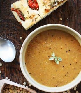 Carrot lentils soup