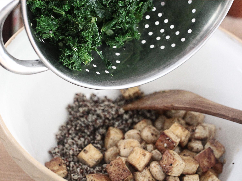 Kale tofu mushroom quinoa 5