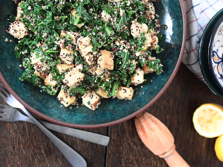 Kale tofu mushroom quinoa 7