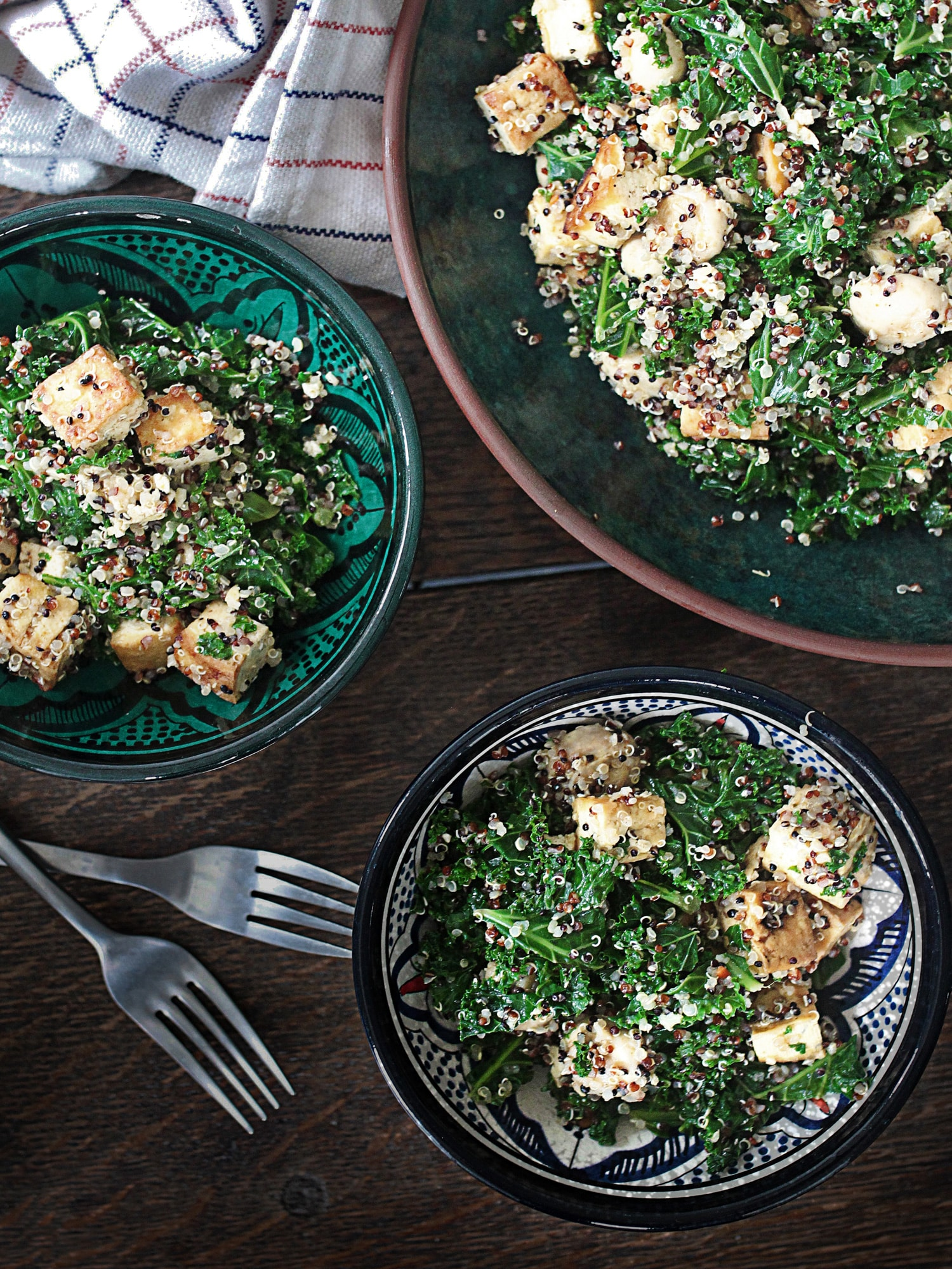 Kale tofu mushroom quinoa 8