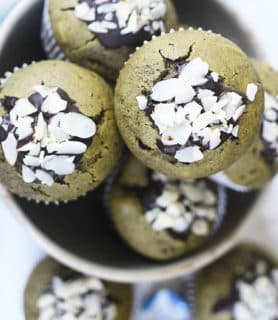 Matcha green tea muffins