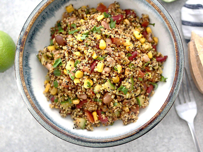 Quick easy mexican quinoa mixed 7