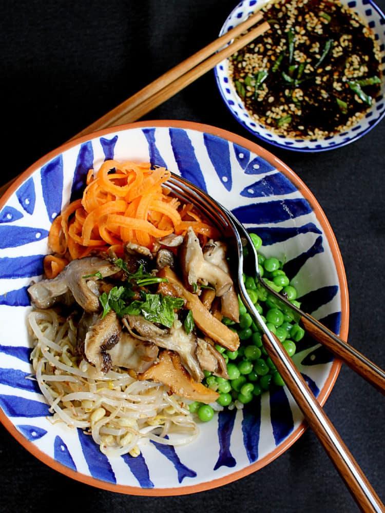 Shitaki mushroom donburi rice bowl 1
