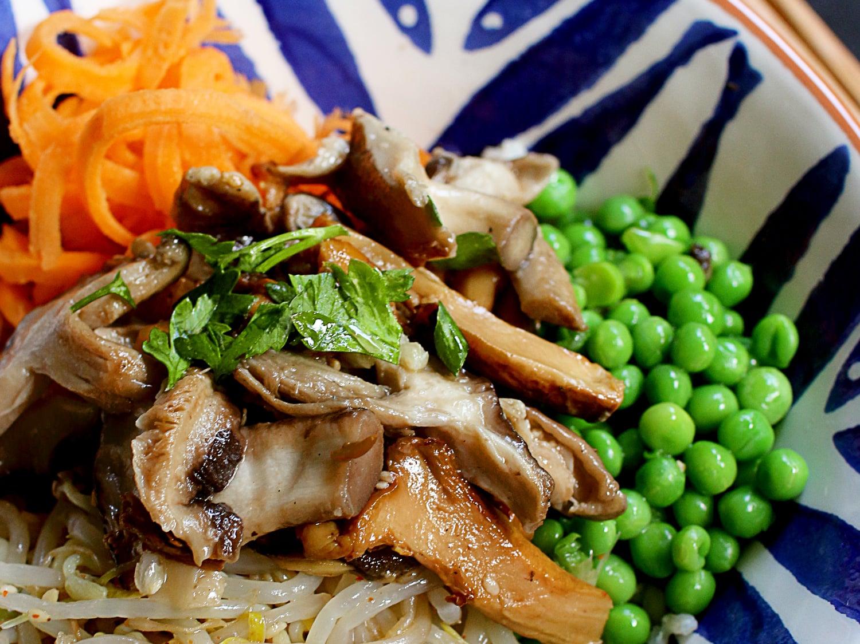 Shitaki mushroom donburi rice bowl 6