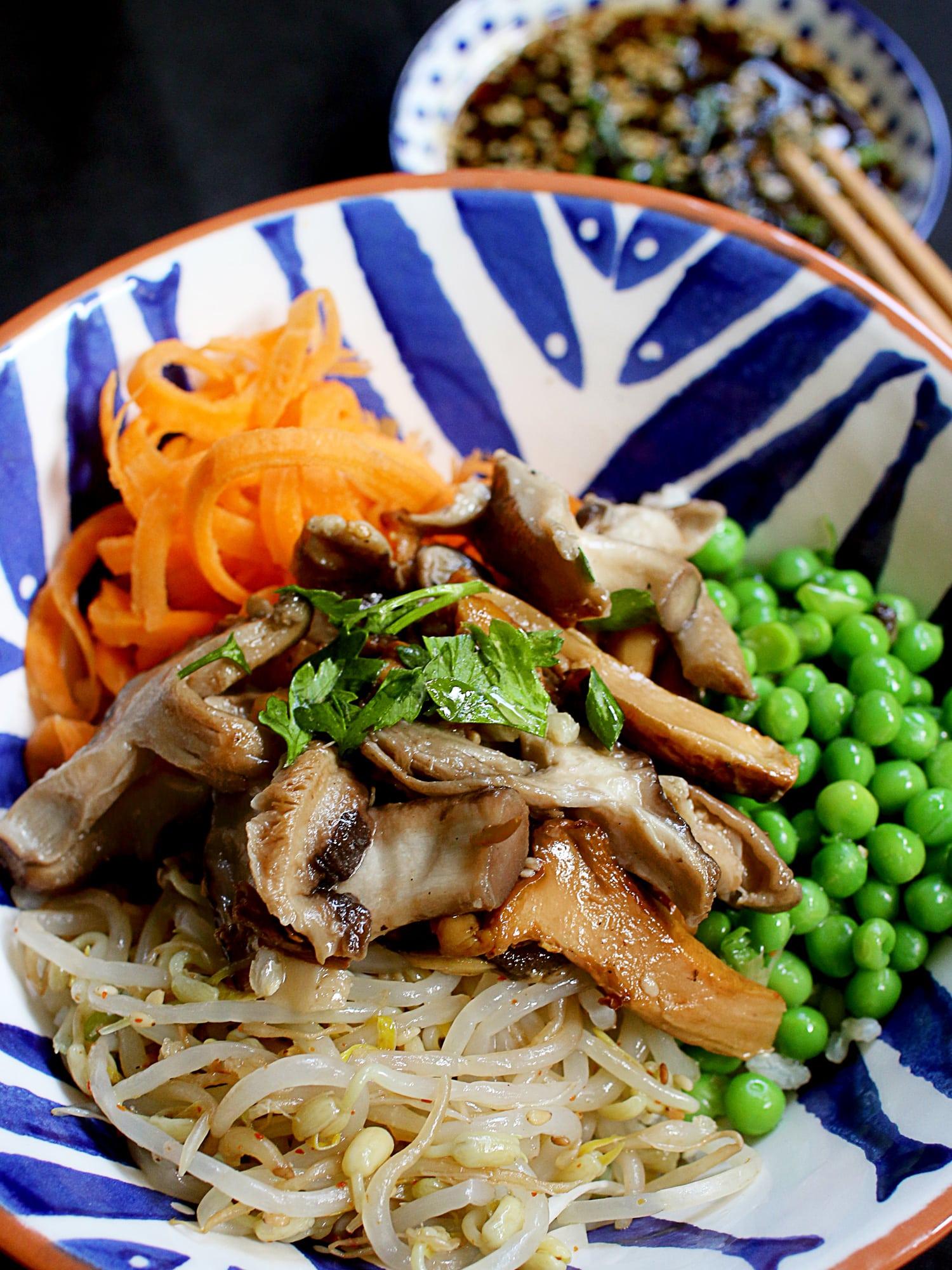 Shitaki mushroom donburi rice bowl 7