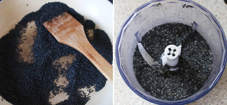 Creamy black sesame latte