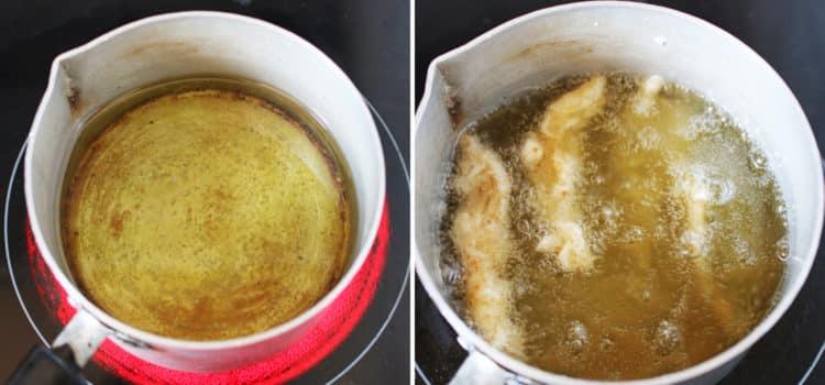 Deep fried vegan calamari (oyster mushroom)