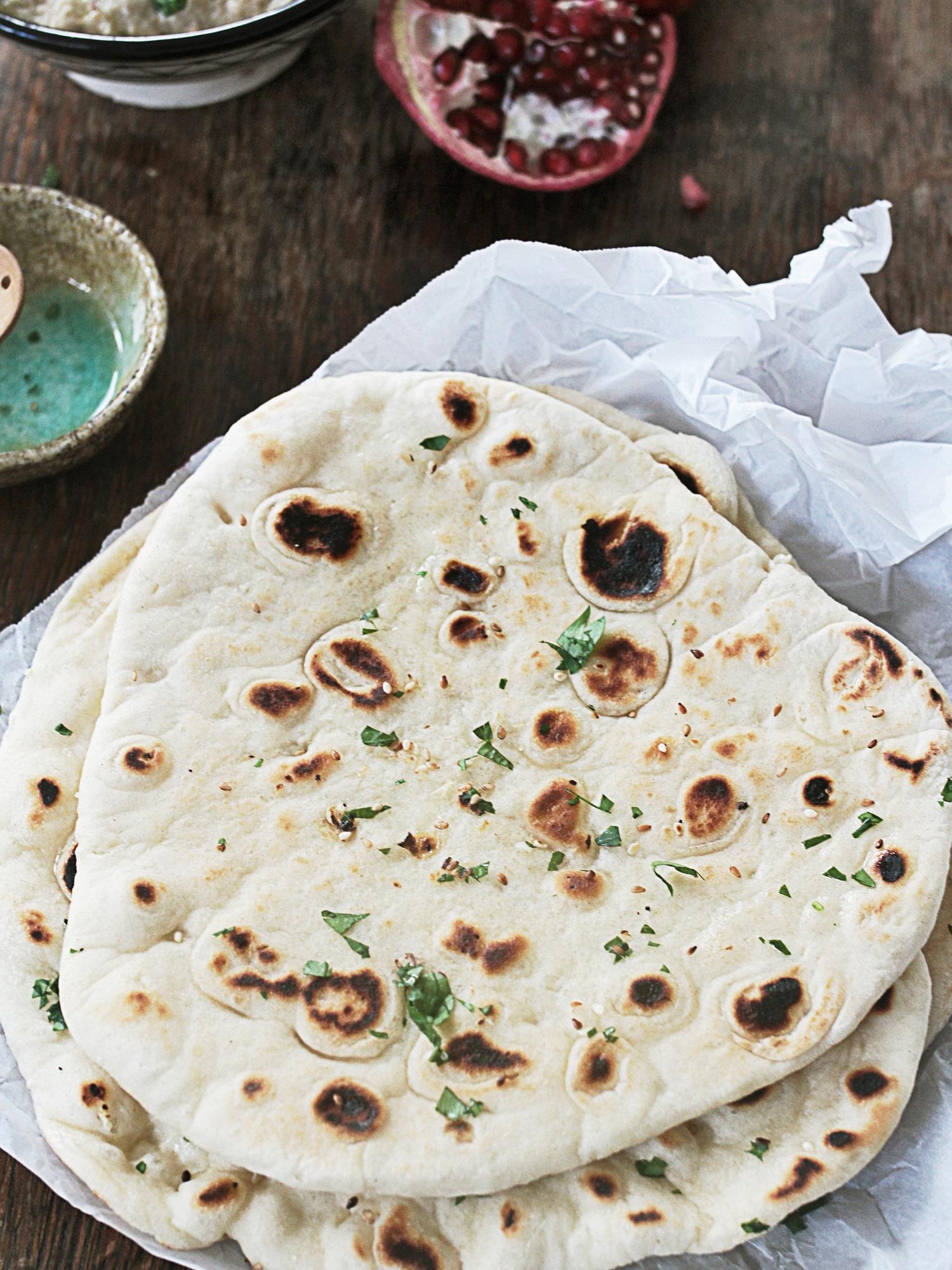Garlic naan bread 1
