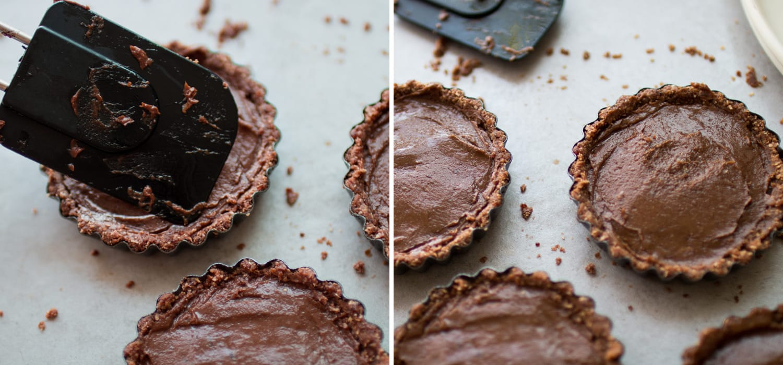 Raw vegan avocado chocolate tart