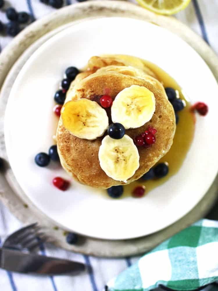 k33kitchen vegan banana blueberries pancake 4