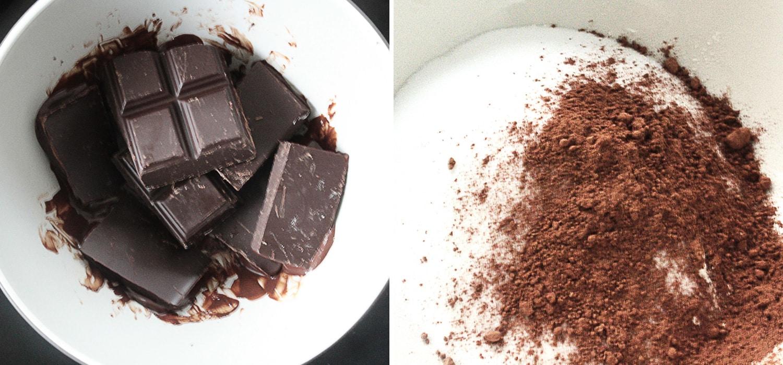 Vegan brownies with walnuts 2