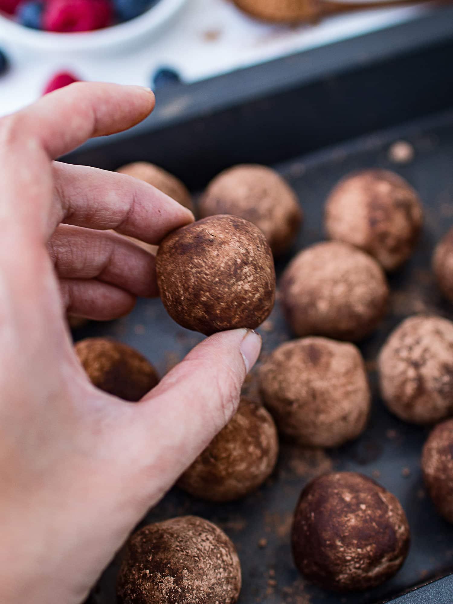 Sweet potato chocolate truffles