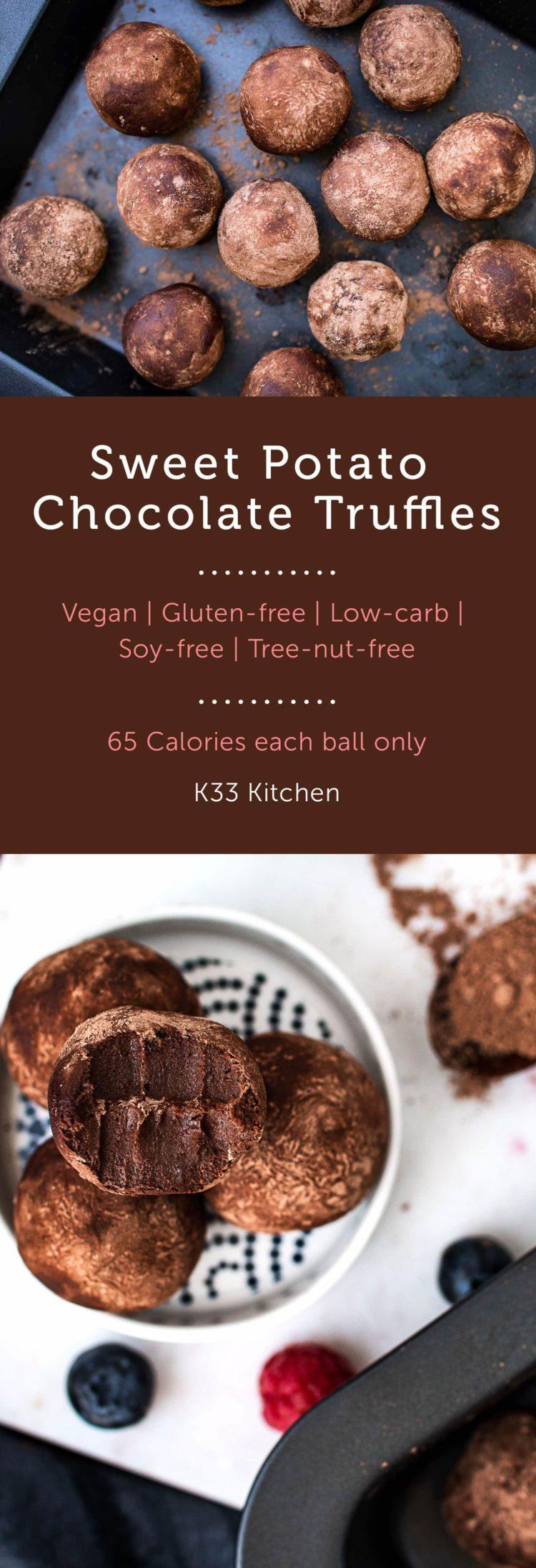 K33 Kitchen Sweet potato chocolate truffles