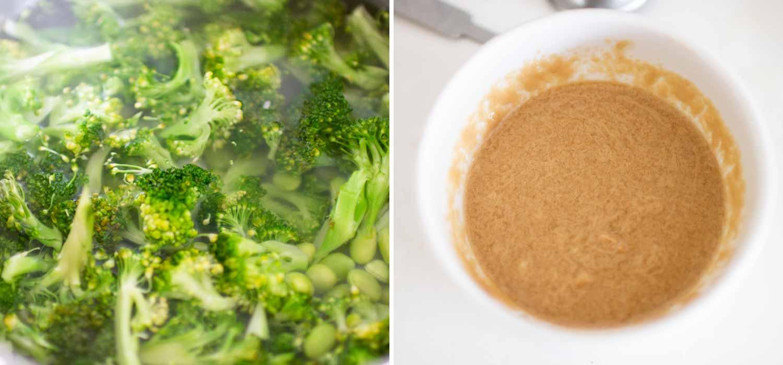 K33 Kitchen Broccoli and edamame salad