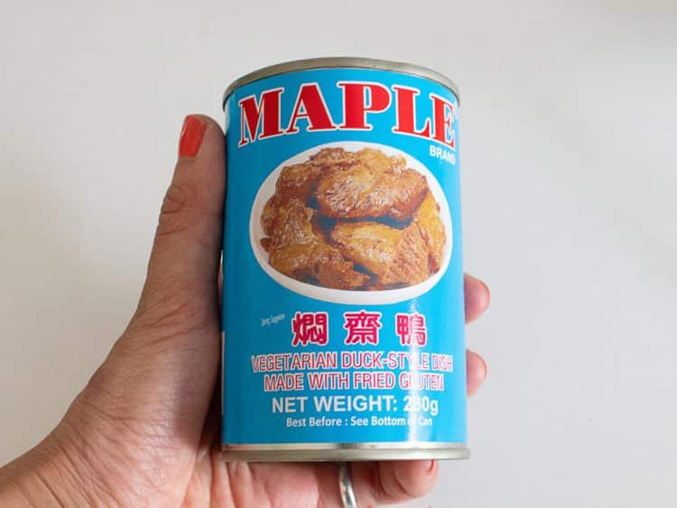 Vegan pancake crispy duck warp