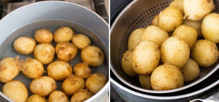 Super crispy smashed baby potato