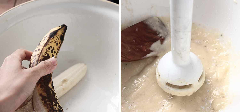 Vegan banana bread loaf