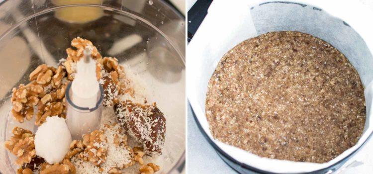 Vegan no bake mango cheesecake