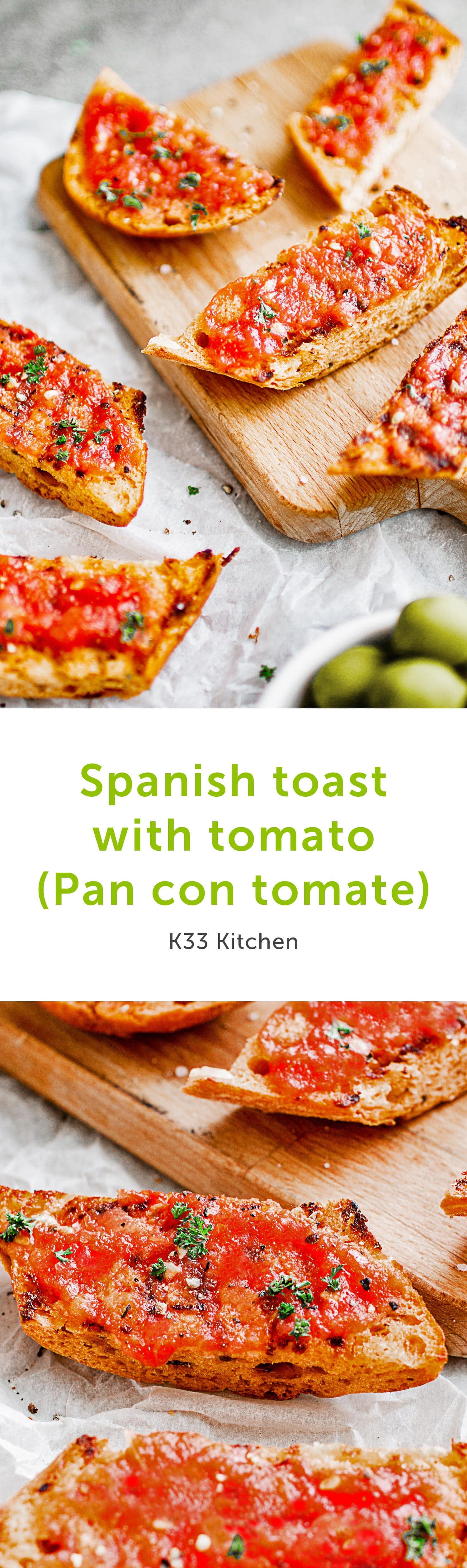 Spanish toast with tomato