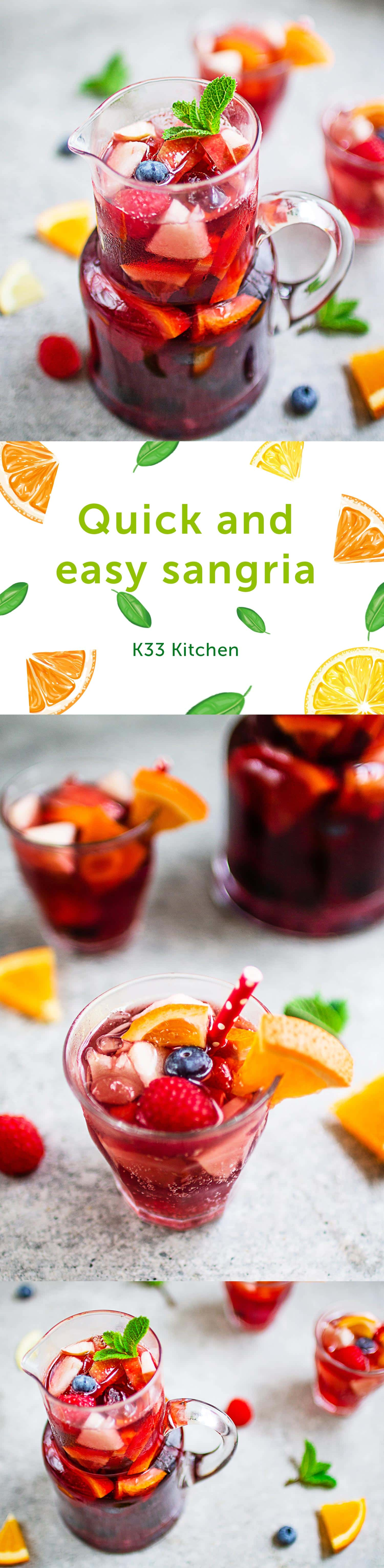 Quick and easy sangria