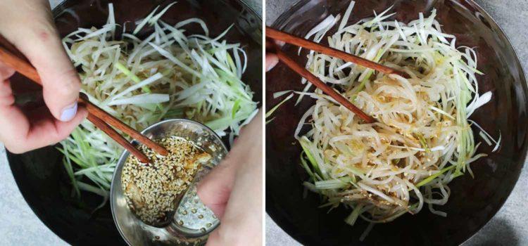 Korean-style sesame bean sprout salad