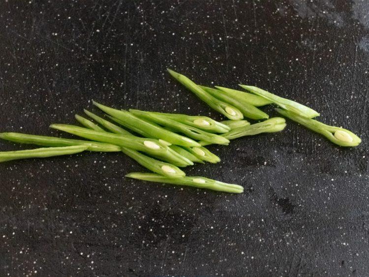 Runner beans, peas, edamame and barley salad