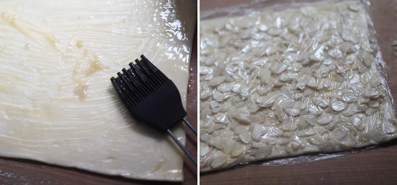 Vegan almond pastry finger