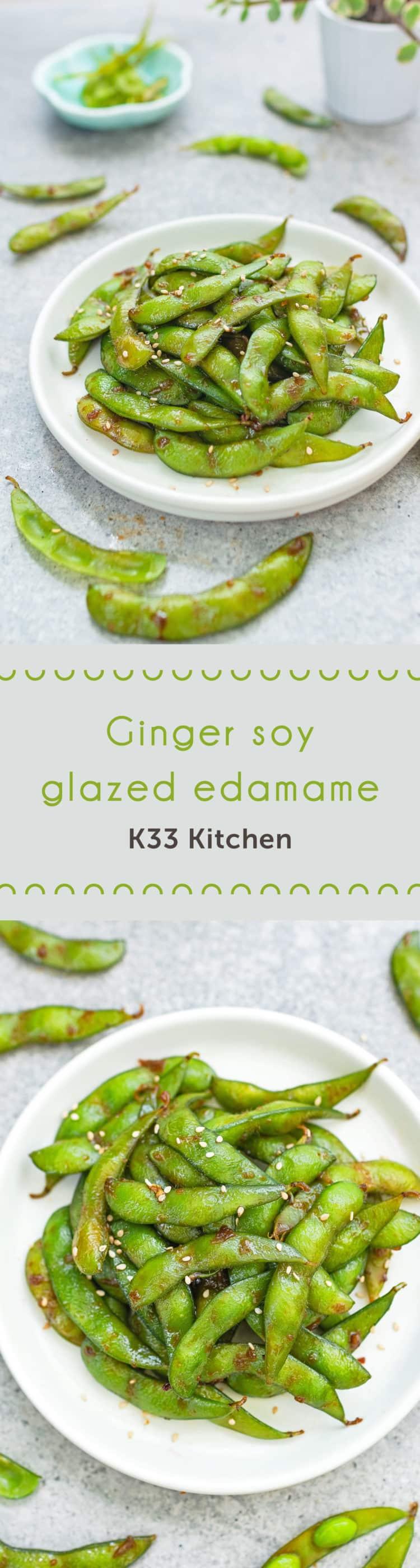 Ginger soy glazed edamame