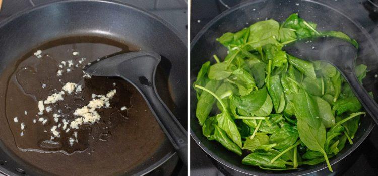 Nutty spinach pasta