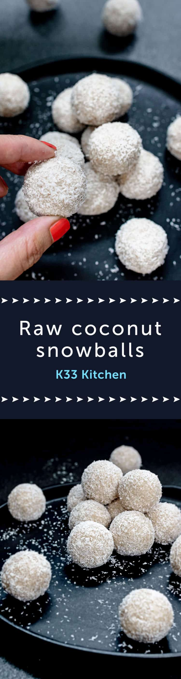Raw coconut snowballs