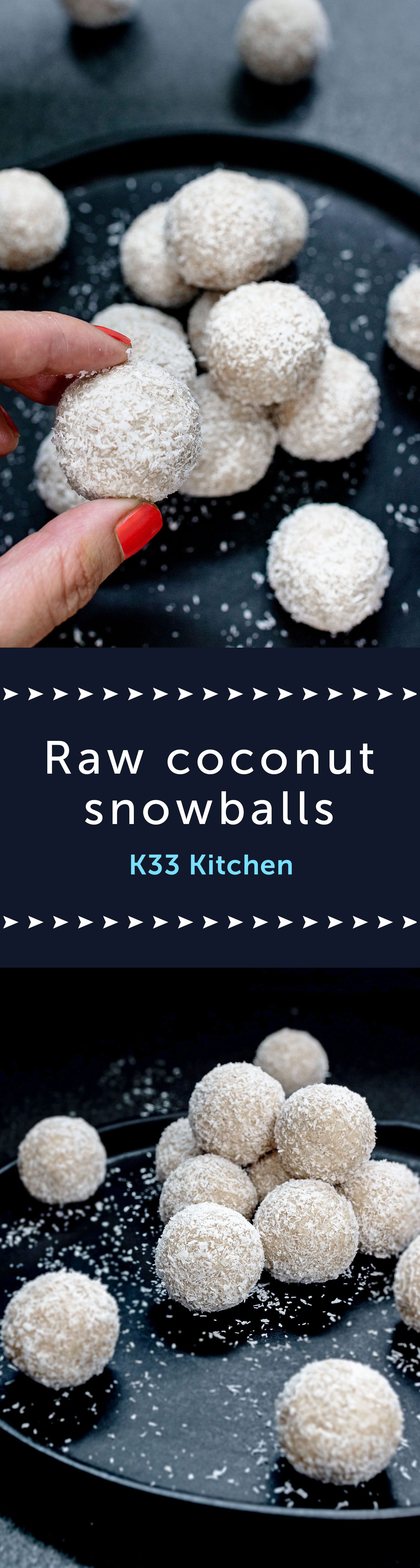 Raw coconut snowballs