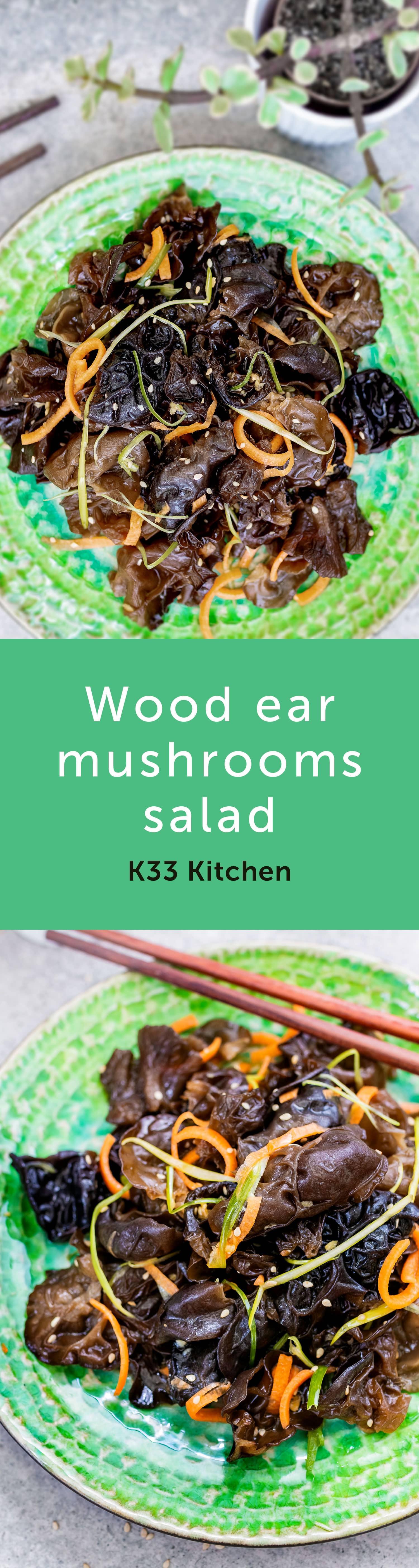 Wood ear mushrooms salad