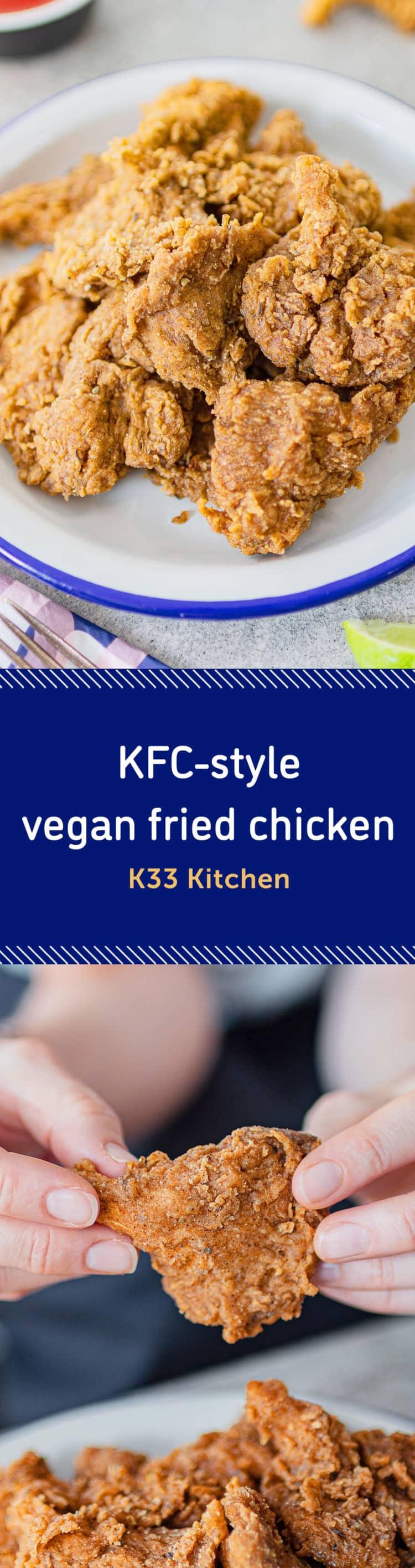 K33 Kitchen KFC-style vegan fried chicken
