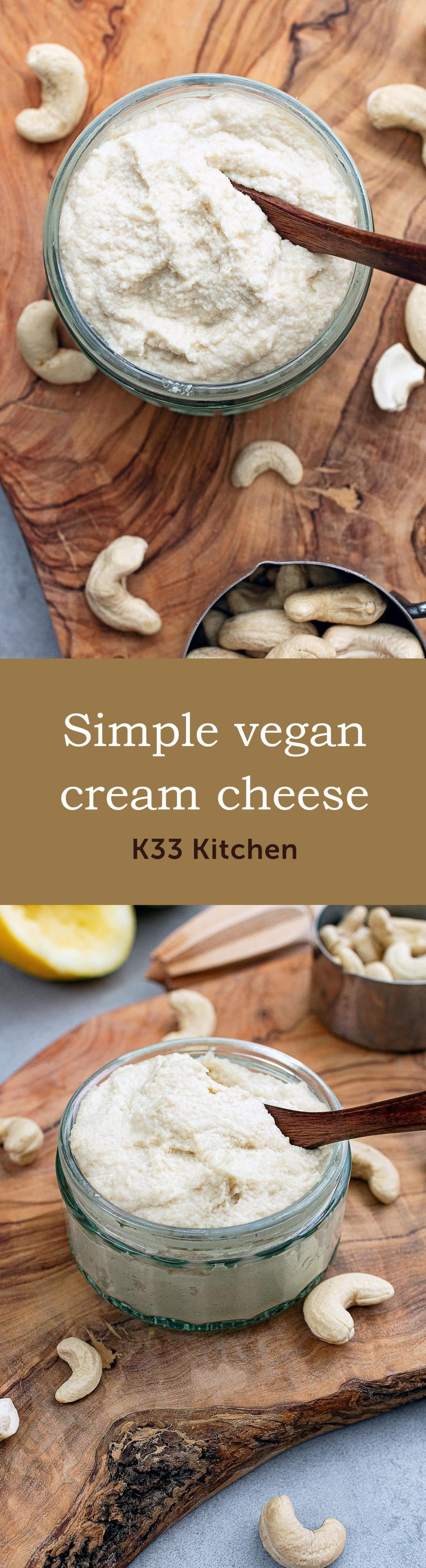 K33 Kitchen simple vegan cream cheese