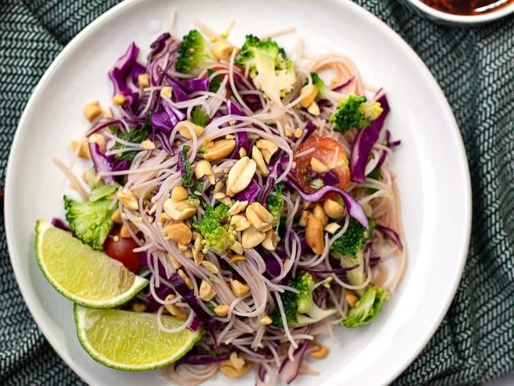 k33kitchen asian broccoli vermicelli salad