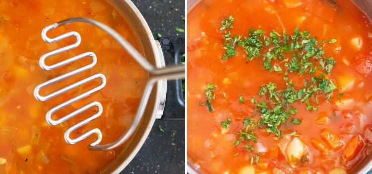 k33kitchen chunky mixed vegetable soup