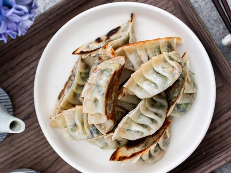 K33kitchen grilled vegan gyoza dumplings