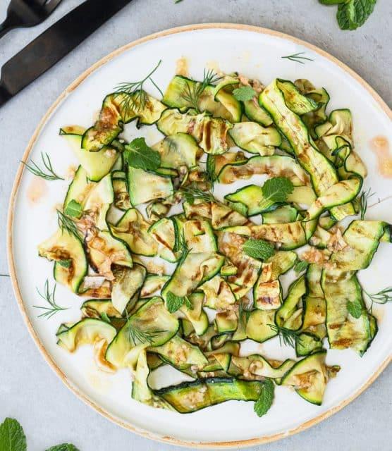 K33Kitchen grilled courgette salad