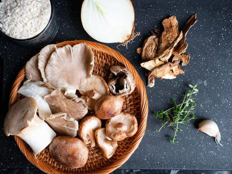 K33kitchen vegan creamy mushroom risotto