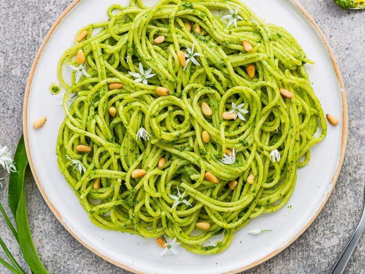 K33Kitchen wild garlic pasta