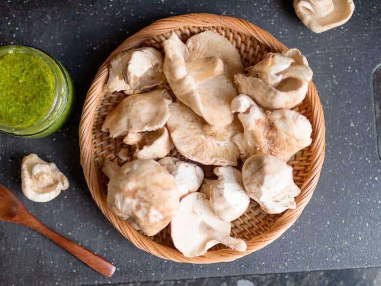 K33Kitchen st georges mushroom toast wild garlic pesto
