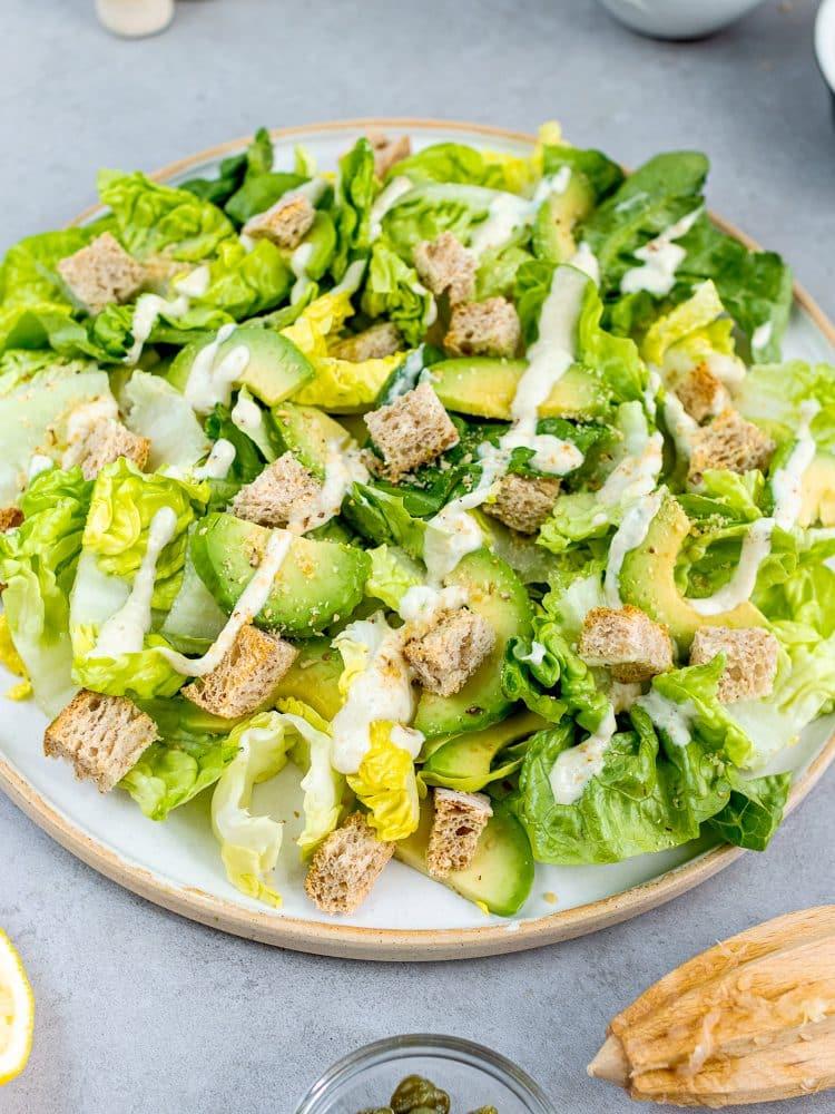 K33Kitchen vegan caesar salad