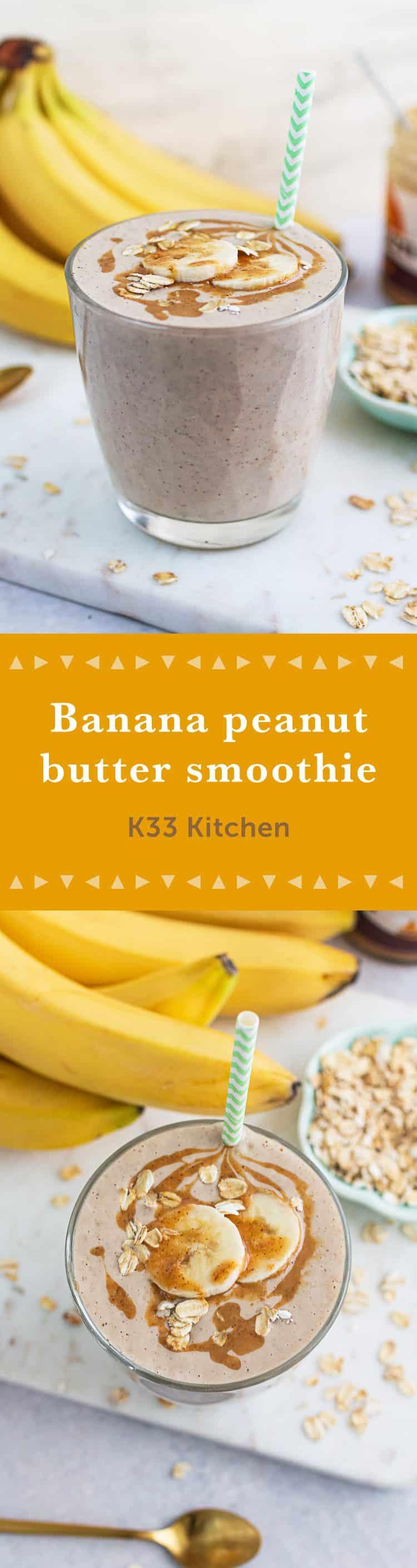 K33Kitchen banana peanut butter smoothie