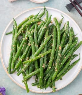 K33Kitchen green beans with miso and sesame dressing