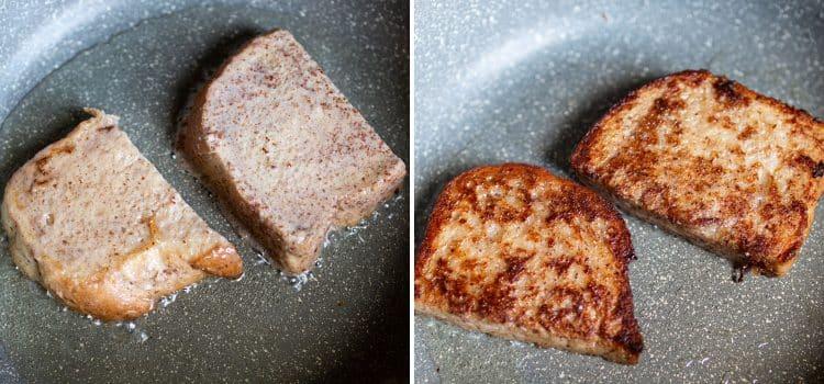 K33Kitchen vegan french toast nectarine