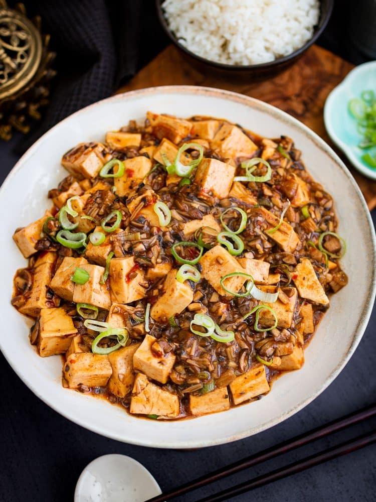 K33Kitchen vegan mapo tofu